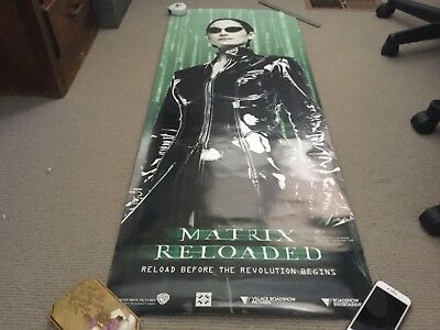 Movie poster, the Matrix Reloaded, Village Roadshow double sided