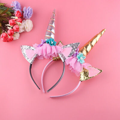 Unicorn Horn Headband Party Children Hair Head Fancy Dress Cosplay Decor  Gift