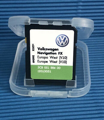 RNS 310 AMUNDSEN LATEST V10 2018 Navigation FX new SD card West Europe VW  SKODA