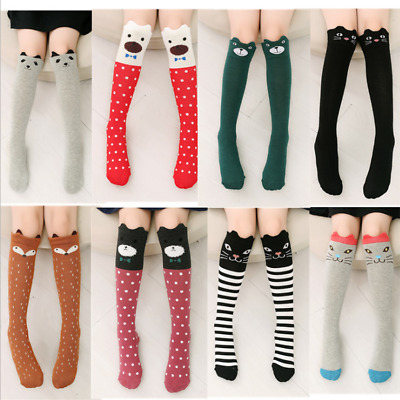 Women Cute 3D Socks Cartoon Animals Thigh Stockings Over Knee High Long Sock USA