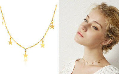 Fashion Women Girl Star Choker Necklace Gold Chain Charm Stainless Steel Jewelry