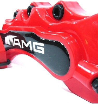 4 AMG Red Mercedes Benz Brake Caliper Cover Disc Racing Front Rear C S E CLK CL