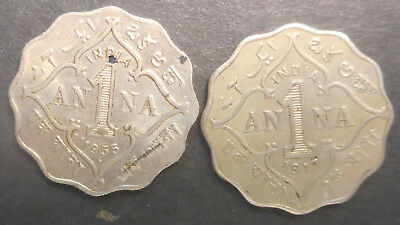 India 1917 1935 KGV 1 anna better detail part lustre