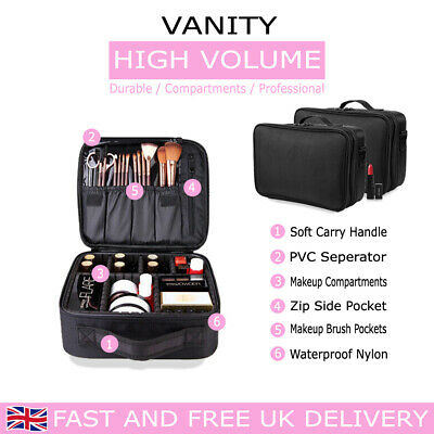 Cosmetic Organizer Make Up Bag Vanity Storage Case Back Pack Strip Beauty Box