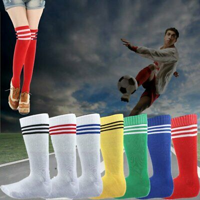 Mens Womens Sports Breathable Tube Long High Socks Knee Warm Casual Footy Soccer