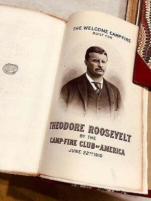 """""""African Game Trails"""" T. Roosevelt SIGNED 1st ed Laid-ins Orig Photos Expedition"""