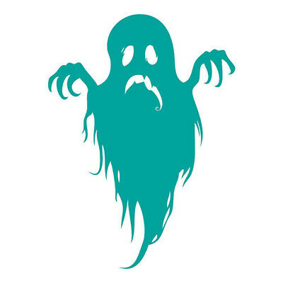 Scary Ghost Halloween Wall Decal Art Stickers Wall Decal Turquoise 38*50cm D5U7