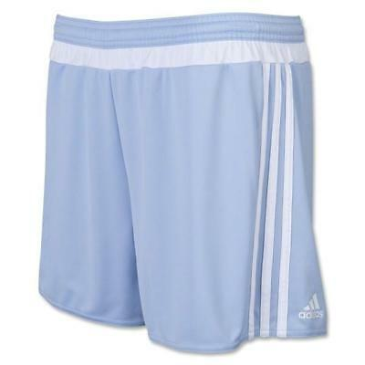b9f26a999 NEW YOUTH ADIDAS MLS 15 MATCH Soccer Shorts sz XL LIGHT BLUE White Athletic