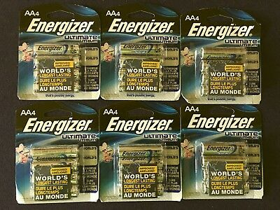24 Energizer Aa Ultimate Lithium 1.5V Batteries L91 Exp. 2036 * Free Shipping *