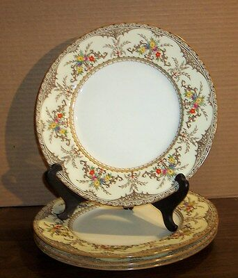 """4 Plates  Minton Chatham Dinner Plates  10.5""""      Paint Chips"""