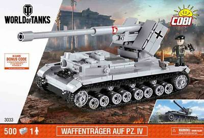 COBI DT. Waffenträger auf Pz.IV World Of Tanks WWII Small Army 500 Teile Neu