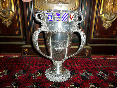 "J E Caldwell Co. Magnificent 16"" Sterling Antique Three Handled Trophy Cup 7Lb +"