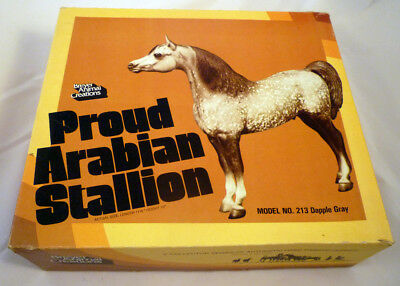 Vintage Breyer Proud Arabian Stallion No. 213 Dapple Gray in Original Box NICE!