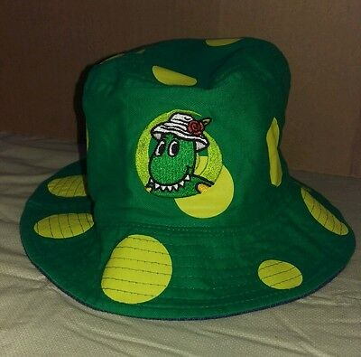The Wiggles Hat Kids Bucket Style Reversible Green Blue