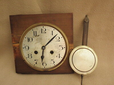 Antique Vintage German Regulator Wall Clock Movement Pendulum And Hands