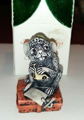 Harmony Kingdom Artist Neil Eyre Designs Black Mouse 🐁 Kringle 🎅  signed LE