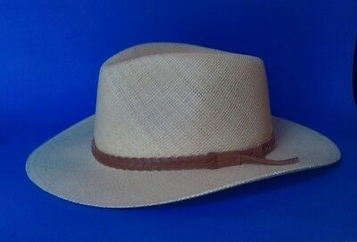 5c279254f NEW ORVIS PANAMA Hat (L/XL) Handwoven in Ecuador Made in USA Leather Band