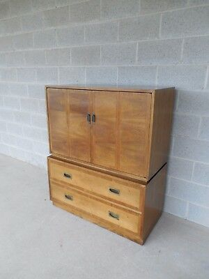 """John Stuart Campaign Style Armoire Fitted Interior Chest 49""""H x 40""""W"""