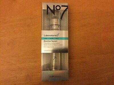 Boots No 7 Laboratories Line Correcting Booster Serum - 15ml - New Stock