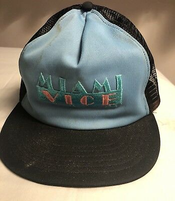78a9b06d ... new zealand vintage miami vice snapback mesh trucker hat cap 80s made in  usa 3af73 77da4