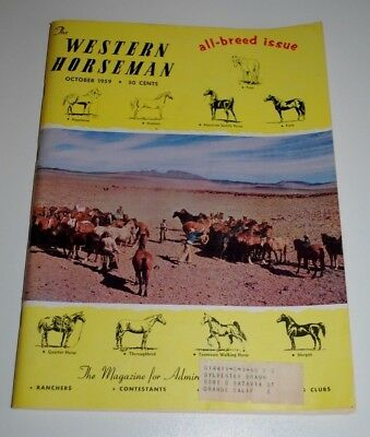 October 1959 WESTERN HORSEMAN Magazine— All Breed Issue