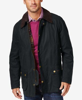 NEW BARBOUR Mens Ashby' Regular Fit Waterproof Waxed Jacket Size US XX-Large