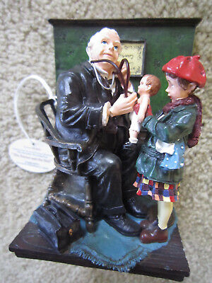 Norman Rockwell Figurine / The Doctor and the Doll / Islandia Internat'l / Mint