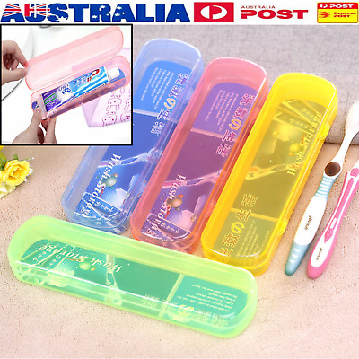 AU Portable Travel Hiking Camping Toothbrush Toothpaste Protect Holder Case Box