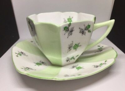 Antique 1920's Art Deco Shelley Queen Anne bone china cup and saucer