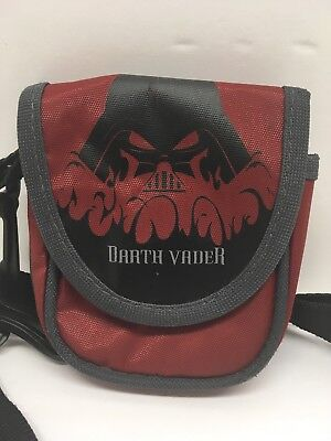 Star Wars Darth Vader Bag belt loop w Clip on strap red black