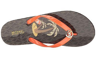 bf4363e39c718d NIB MICHAEL KORS MK Shiny Thong Flip-Flops Sandals Thong Orange Size ...