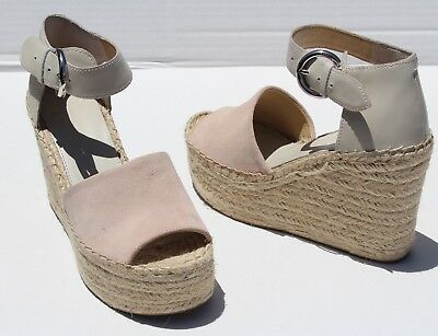 9988dae754f MARC FISHER ANNIE Perforated Espadrille Wedge Sandals Size 7 ...