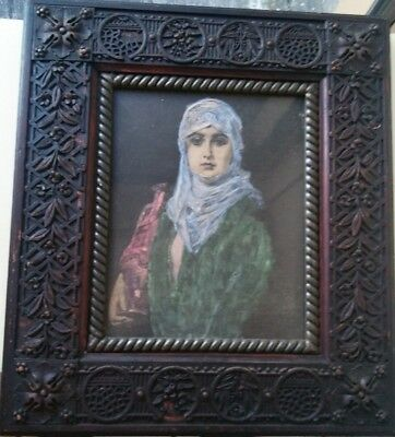 Rare Antique Arts And Crafts Art Nouveau Carved Wood Picture Frame