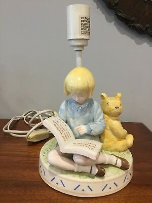 Christopher Robin With Pooh Bedside Lamp Base