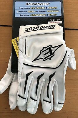 Easton Turbo Slot Hitting Power Pad Batting Gloves Black ADULT Women's Sz M