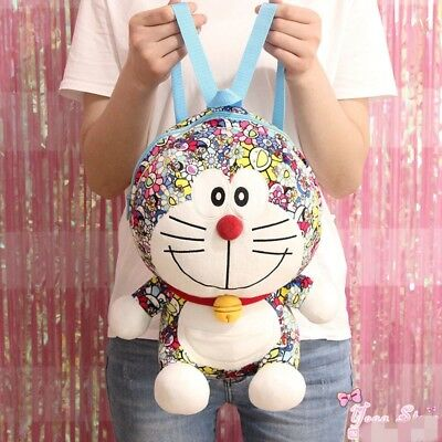 2018 UNIQLO DORAEMON X Takashi Murakami Limited Plush Doll Bag Backpack