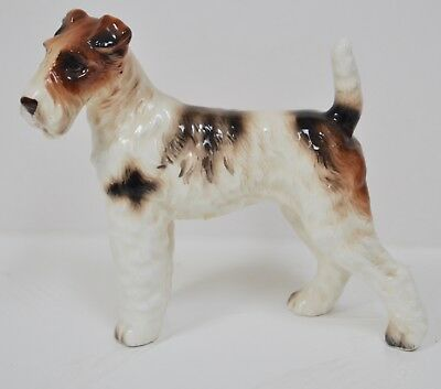 Vintage Ceramic Wire Haired Fox Terrier Figurine