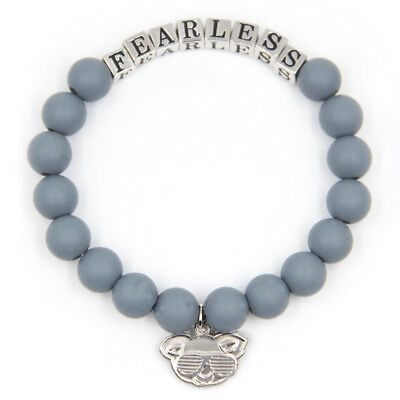 Gray FEARLESS Friendship Bracelet Inspirational Meaningful Unique Gift Beaded