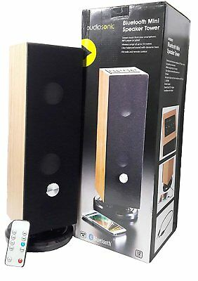 Audiosonic Bluetooth Mini Speaker Tower(Wooden) with Remote
