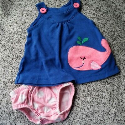 451c2d44dec7 BABY GIRL CLOTHES 3 months Carter s romper summer outfit whales pink ...