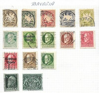 Bavaria German States - Used Stamps Hinge Mounted