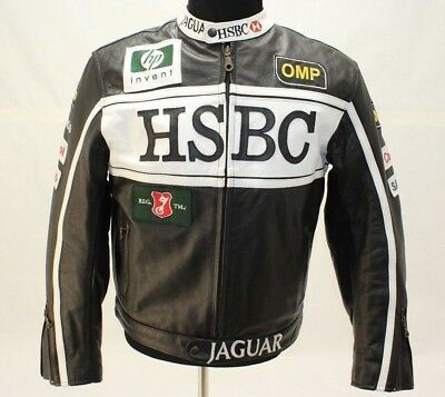 c30e5071da659f JAGUAR RACING Full Leather Black Jacket Top Gear S Oliver F1 Team Motorcycle