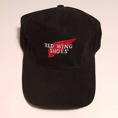 Red Wing Shoes Embroidered Black Dad Hat Baseball Cap   Adjustable Strapback  Hat 2bc1c7ddbaba