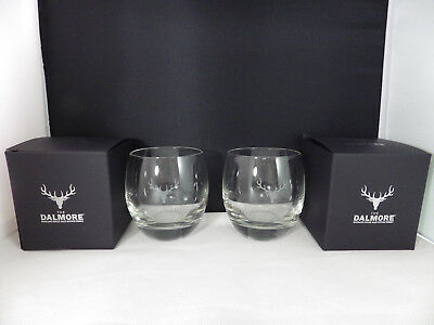 THE DALMORE SCOTCH WHISKY Pair Glasses NEW with Box