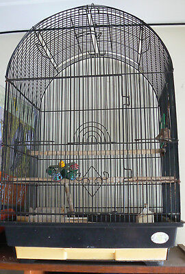 68cm hanging birdcage Portable preowned black Bird Cage Pet Parrot Canary Budgie