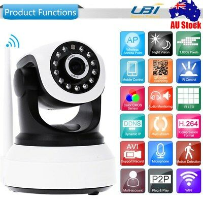 HD 720P Wireless Wifi IP Camera Security CCTV Network Baby Monitor Night Vision