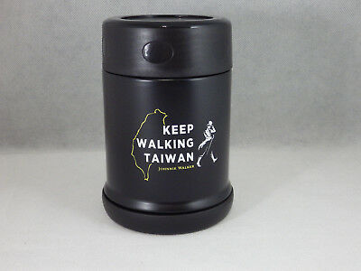 Johnnie Walker Whisky Black Label Keep Walking Taiwan Cup Thermos Cup 350ml  NEW