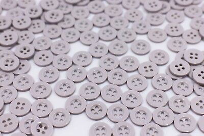 Black Buttons Resin Four Holes Raised Edge Small Round 50pcs 9mm 11mm 15mm 18mm