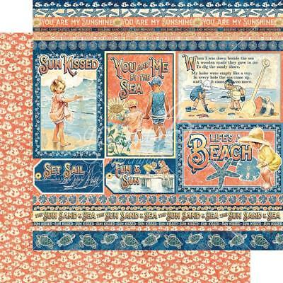 Graphic 45 Sun Kissed - KIDS AT PLAY - 12x12 d'sided scrapbooking paper ~ Beach