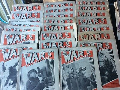 Lot Of 23 War Illustrated Magazines From 1940